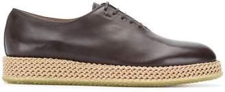 Salvatore Ferragamo cord sole oxford shoes