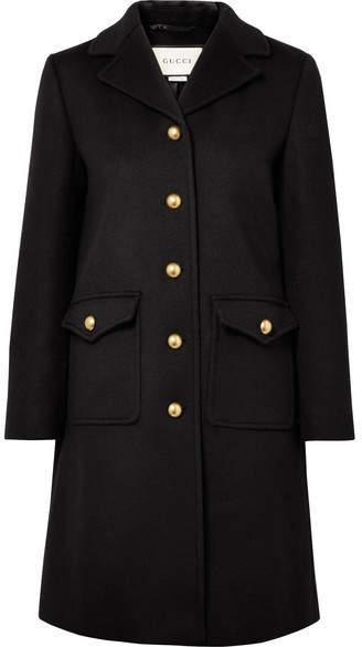Gucci - Embellished Wool Coat - Black