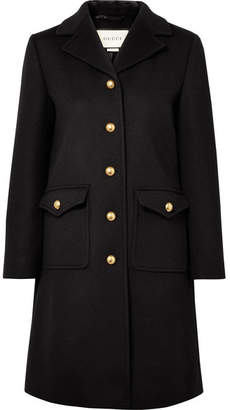 Gucci Embellished Wool Coat - Black