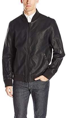 Calvin Klein Jeans Men's Faux Leather Aviator Jacket
