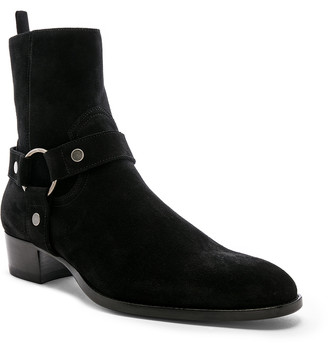 Saint Laurent Smooth Leather Wyatt 40 Harness Boot