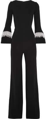 Roland Mouret Crochet-trimmed Stretch-crepe Jumpsuit