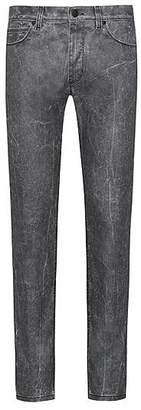 HUGO BOSS Skinny-fit jeans in stretch denim with textured effect