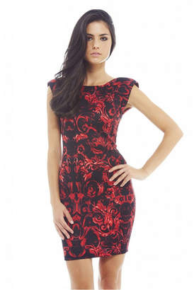 AX Paris Colouful Floral Printed Bodycon Dress