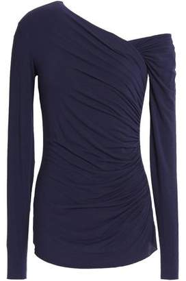 Bailey 44 One-Shoulder Ruched Stretch-Jersey Top