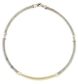 David Yurman Two-Tone Metro Cable Collar Necklace silver Two-Tone Metro Cable Collar Necklace