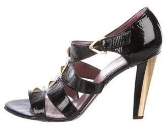 Jean-Michel Cazabat Embellished Patent Sandals