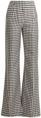 Sonia Rykiel Gingham wide-leg twill trousers