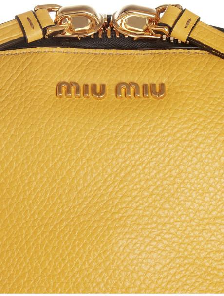 Miu Miu Bugatti textured-leather tote