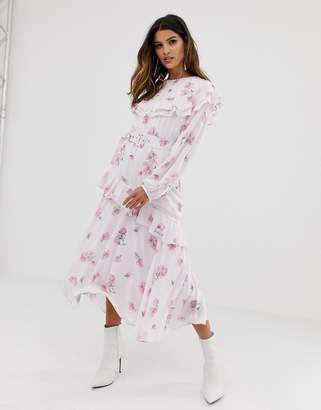 Miss Sixty floral printed tier detail dress