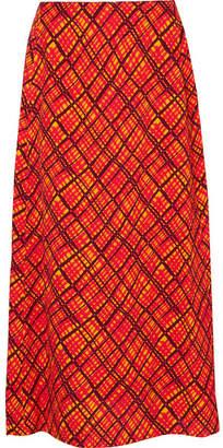 Marni Printed Crepe Maxi Skirt - Orange