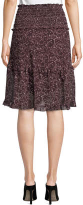Max Studio Tiered Smocked-Waist Skirt