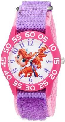 Disney Girl's 'Palace Pet' Quartz Plastic and Nylon Automatic Watch, Color: (Model: W002843)