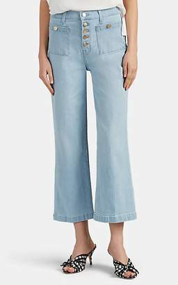 J Brand Women's Joan High-Rise Wide-Leg Crop Jeans - Blue