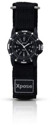 Sekonda Unisex Quartz Watch with Black Dial Analogue Display and Black Nylon Strap 3981.05