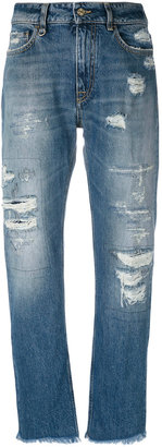 Cycle distressed straight jeans $202.85 thestylecure.com