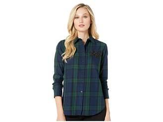 Lauren Ralph Lauren Patch Tartan Cotton Shirt