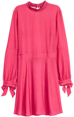 H&M Dress with Stand-up Collar - Red
