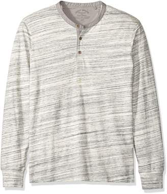 Lucky Brand Men's Long Sleeve Knit Henley in , Heather Grey