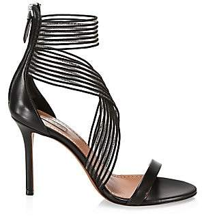 Alaia Women's Criss-Cross Ankle-Strap Leather Sandals
