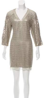 Reed Krakoff Embellished Silk Dress