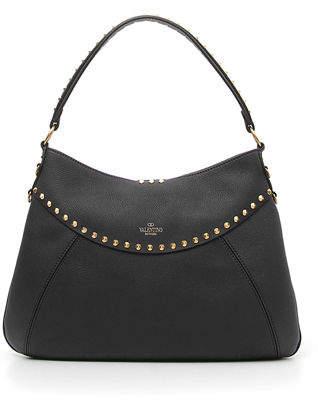 Valentino Twinkle Studs Medium Leather Hobo Bag