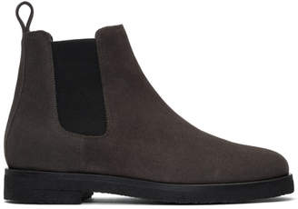 Etq Amsterdam Grey Suede Chelsea Boots