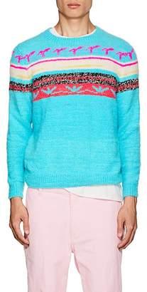 The Elder Statesman Men's Fair Isle Cashmere Sweater