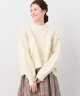CLANE (クラネ) - JOINT WORKS CLANE cropped 3D knit tops◇
