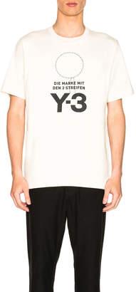 Yohji Yamamoto Y 3 Stacked Logo Tee