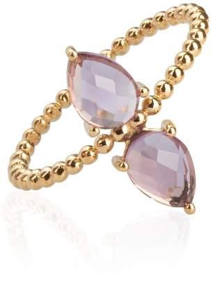 Sharon Mills London Amethyst Pear Drop Ring