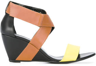 Pierre Hardy crisscross wedge sandals