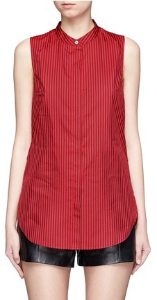 3.1 Phillip Lim 3.1 Phillip Lim Knot back stripe cotton-silk sleeveless top