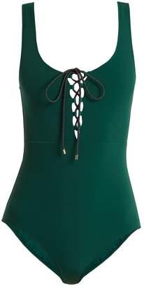 Stella McCartney Scoop-neck tie-front swimsuit