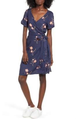 Roxy Monument View Floral Print Wrap Dress