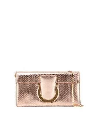 Salvatore Ferragamo Small Snakeskin Clutch Bag