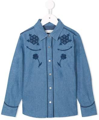 Stella McCartney floral patch denim shirt