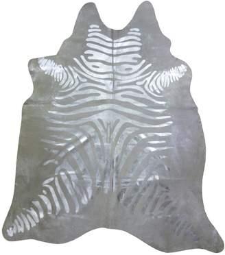Chesterfield Striped Zebra Cowhide Rug