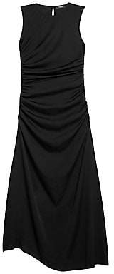 Theory Women's Twisted Stretch-Silk Sleeveless Dress