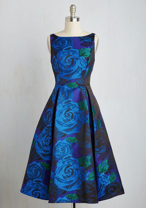 Adrianna Papell Extraordinary Epicure Dress in Sapphire $219.99 thestylecure.com