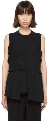 Enfold Black Random Tuck Tank Top