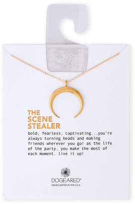 Dogeared Gold-Tone Sterling Silver The Scene Stealer Crescent Necklace