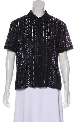 Jenni Kayne Embroidered Short Sleeve Top