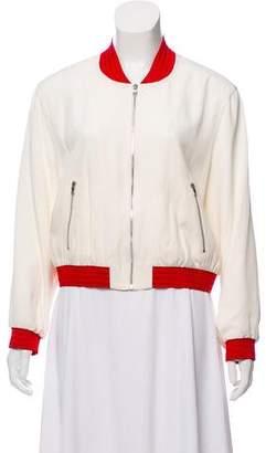 Alexis Trei Striped Bomber Jacket