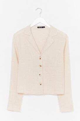 Nasty Gal Shirt Feelings Linen Shirt