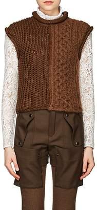 Chloé Women's Mixed-Stitch Wool-Blend Sweater