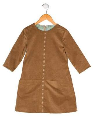 Isabel Garreton Girls' Corduroy Long Sleeve Dress