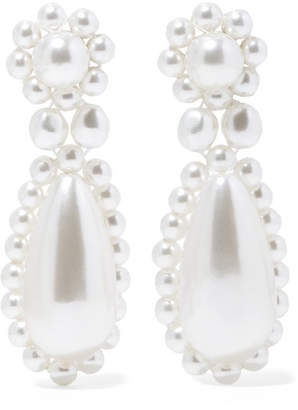 Simone Rocha Silver-plated Faux Pearl Earrings - White
