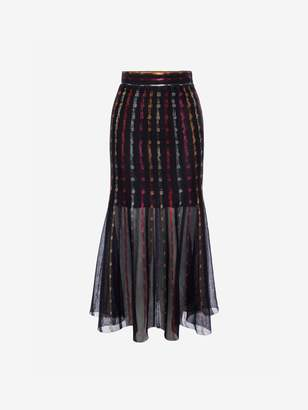 Alexander McQueen Sheer Knit Midi Skirt