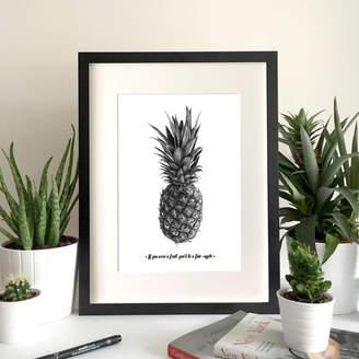 Michael Stephen Carter Personalised Pineapple Art Print